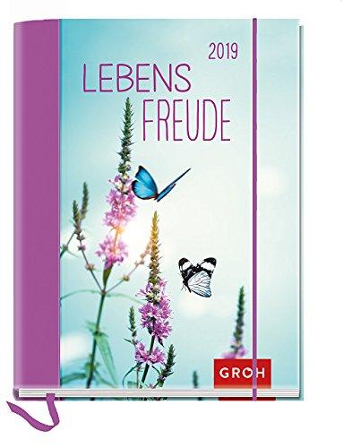 Lebensfreude 2019: Terminplaner mit Wochenkalendarium | Maße (BxH): 12x15,5cm