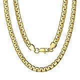 ChainsPro Drehen Seilkette, 18k Gold, Geschenke zum Geburtstag, Vatertag, Jubiläum, Halskette im französischen Punk-Stil, Box Kette für Schmuck DIY