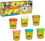 Play-Doh - Pack 6 + 6 botes de plastilina (Hasbro 23023186)