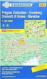 Tabacco Wandern 1 : 25 000 Pragser Dolomiten - Enneberg [Lingua inglese]