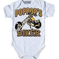 USA motivo poppos Biker Baby body Bio–Body a maniche corte per motociclisti Bebè