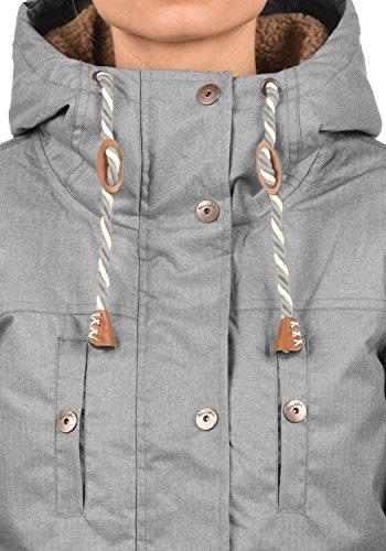 Blend SHE Dale Damen Winter Jacke Parka Mantel Winterjacke gefüttert mit Teddyfutter und Kapuze, Größe:S, Farbe:Castlerock (75003) - 5