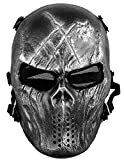 queenshiny Skull Airsoft Paintball Masque complet protection militaire Costume...