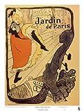 Lámina 'Jardín de París', de Henri de Toulouse-Lautrec, Tamaño: 21 x 28 cm