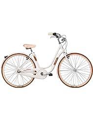 'Bicicleta Cicli Adriatica Danish Nexus de mujer, estructura de acero, rueda de 28, cambio al Buje Shimano Nexus a 3 Velocidad, talla 48, 3 colores disponibles, Bianco