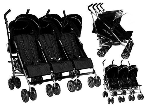 Kinder Kargo Triple Kinderwagen inklusive fußsäcken Drillinge von der Geburt