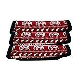 AF-WAN Gepäck Griff Wraps Neopren Griff Wrap Griff Griff Identifier für Reisetasche Gepäck Koffer (3 rot) (RED)