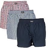Daily Underwear Herren Webboxer Boxershorts 3er Pack, Größe:XXXL;Farbe:Farbkombi 99/2