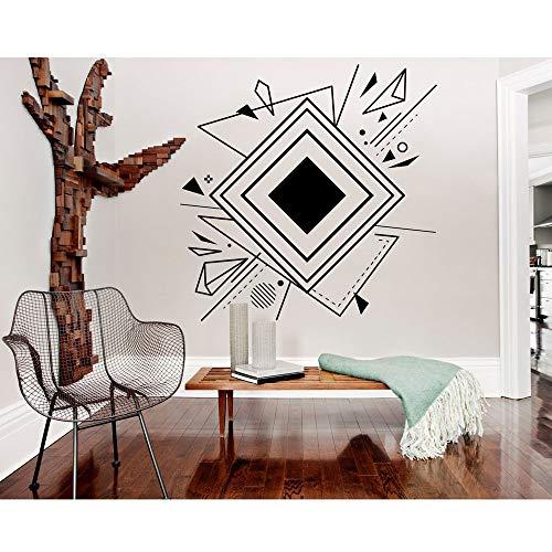 BFMBCH Geometrische Wandkunst Abstrakte Wandtattoo Minimalistischen Vinyl Aufkleber Wandbild Moderne Büro Dekoration Schlafzimmer Wohnzimmer Praxiszimmer Kunst Wandaufkleber 10 erröten 42x42 cm (Elektrischen Pokemon Karten)