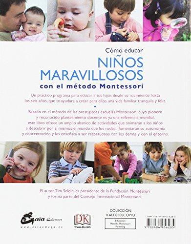 Copertina del libro Cómo Educar Niños Maravillosos Con El Método Montessori (Kaleidoscopio)