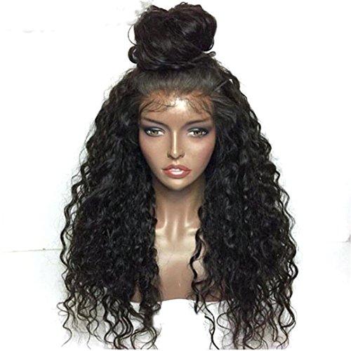 Curly synthetische Lace Front Wig Hitzebeständige Hälfte Hand gebunden Vorderseite mit Baby Haare für Frauen Perücken (Party Stadt Kostüme Für Babys)