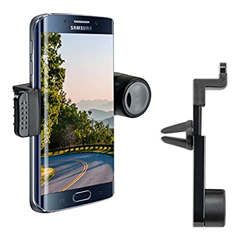 kwmobile Support ventilation pour Samsung Galaxy S6 Edge - Support automobile pour fente d'aération en noir
