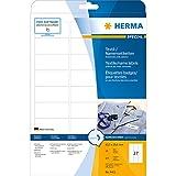 Herma 4411 Namensetiketten (Namensaufkleber im Format 63,5 x 29,6 mm, zur PC-Beschriftung für den temporären Einsatz, selbstklebende Textil-Namensschilder, ablösbar) 675 Stück, weiß