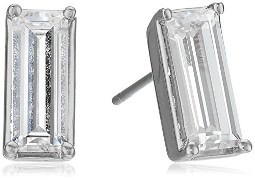 nicole-miller-medium-baguette-rhodium-stud-earrings