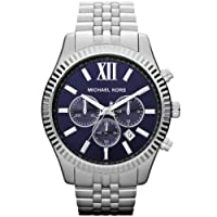 Reloj Michael Kors Lexington MK8280 de cuarzo para hombre, correa de acero inoxidable color plateado (cronómetro, agujas luminiscentes) de Michael Kors