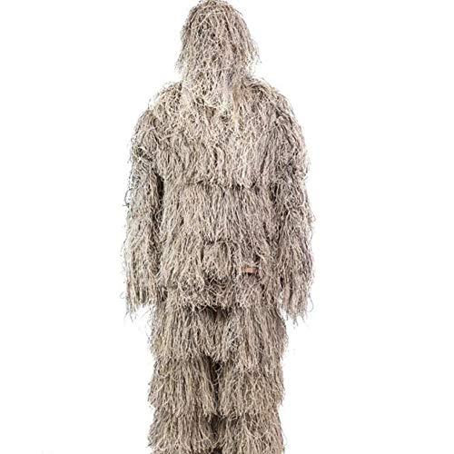 Kostüm Kind Ghillie Anzug - XNNSH Ghillie Anzug 3D Camo Camouflage Jagdbekleidung Kleidung für Halloween Party Kostüm, Dschungeljagd, Schießen, Airsoft für Unisex Erwachsene/Kinder/Jugendliche