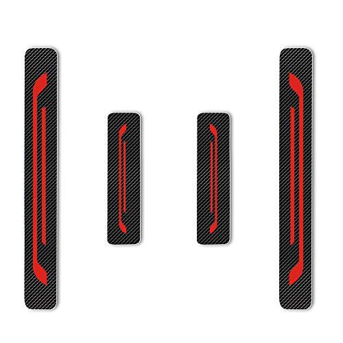 Einstiegsleiste Schutz Aufkleber Reflektierende Lackschutzfolie für Leaf NV200 Combi Micra Note Pulsar Juke Qashqai X-Trail Navara 370Z GT-R Einstiegsleisten Rot 4 Stück