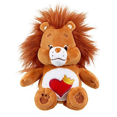 vivid-imaginations-care-bears-cousins-leone-brave-heart-bean-bag-plush-toy-multicolore