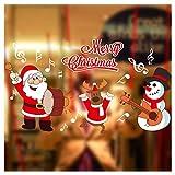Tuopuda Natale Muro Adesivi Home Decor Natale Babbo Natale Finestra Vetro Decorativo Parete Decalcomania (pupazzo di neve)