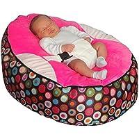 Funda de almohada para cama con mangas para bebé Rosa y el logotipo bolsa para raquetas de tenis SHL mecedora interactiva tipo libro con función de relleno de bolitas de