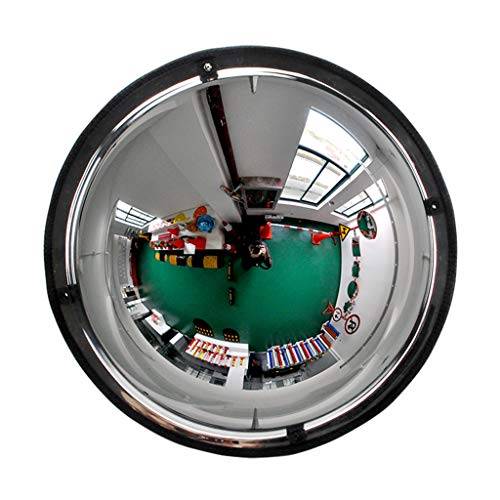 GXFC Specchio Convesso a Cupola panoramica, Angolo di Visione a 360 Gradi, 1/2 Specchio sferico, Specchio di Sicurezza Acrilico, Adatto per Negozi, Uffici o fabbriche, Sicurezza dell\'officina