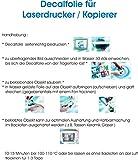 Wasserschiebefolie Decal Papier Transfer Wasserabschiebe Keramikfolie transparent für Laserdrucker