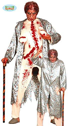 Zombie Großmutter Kostüm Gr. M/L, (Kostüm Oma Zombie)
