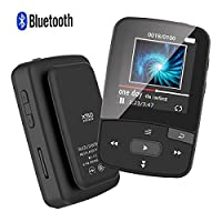 CFZC Bluetooth Clip 8GB MP3 Player Sport MP4 Lossless Sound Music Player with FM Pedometer-Expandable Black