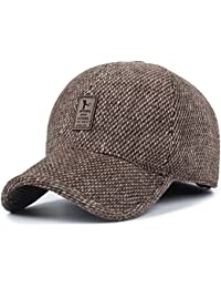 Sombrero de Gorra de béisbol de Lana de Tweed de Lana cálida de Invierno de  los 5c810207d36