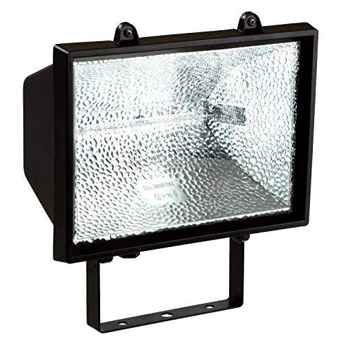 as - Schwabe Halogenstrahler - 1000 W Halogen-Fluter geeignet als Baustrahler / Arbeitsleuchte - Energieklasse E - Halogenspot inklusive Leuchtmittel - Leuchte für den Außenbereich - Schwarz I 44109 - Schwarz Halogen Lampe Deckenfluter Ist
