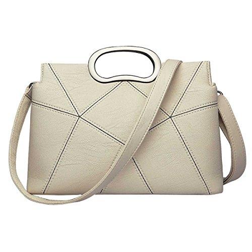 Damenmode Umhängetasche Splicing Handtasche White