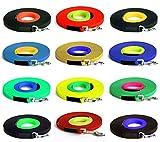 16 mm BioThane Suchleine, Hundeleine mit genähtem Ende, zwei-farbig, 3m-30m [15 m], Karabiner, 625 Farbkombinationen)