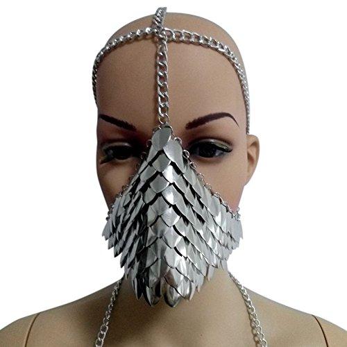 Yiwa Steampunk-Metall-Kopfkette, für Halloween, Cospaly, Party, Kostüm, Ball, Geschenk