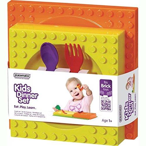 Placematix Good Kids-Set für Babynahrung, Farbe: orange/gelb/rot/violett
