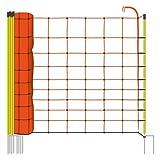 Filet mouton 50m H : 108cm orange VOSS.farming 14 piquets double pointe clôture électrique