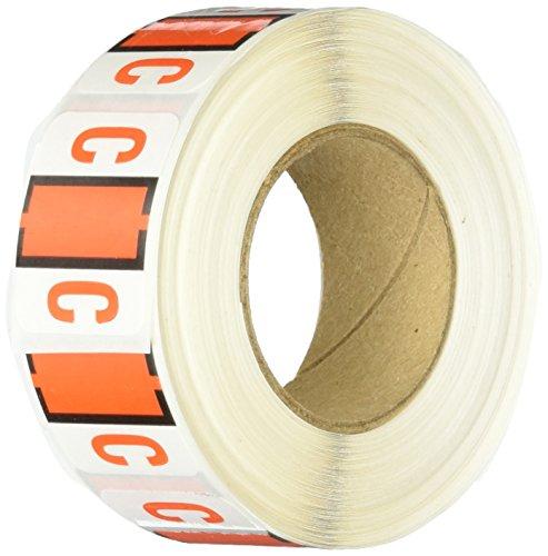 Pendaflex 03803A-Z color-coded bar-style final Tab archivador de etiquetas, Naranja Oscuro, letra C, 500/rollo