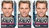 3x JUST FOR MEN Pflege-Tönungs-Shampoo hellbraun (je 66ml)