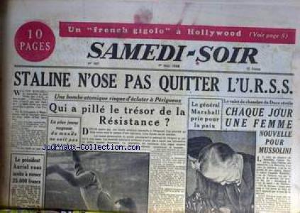 Le Jeune Staline - SAMEDI SOIR [No 147] du 01/05/1948 -