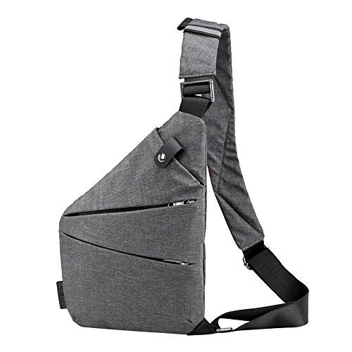 Beikoard Fashion Sling Bag Borse a Tracolla antifurto in Tela Casual(GrigioA)