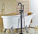 Gowe Luxus Öl eingerieben Broze Badewanne Wasserhahn freistehend Badewanne Wasserhahn doppelte Griffe