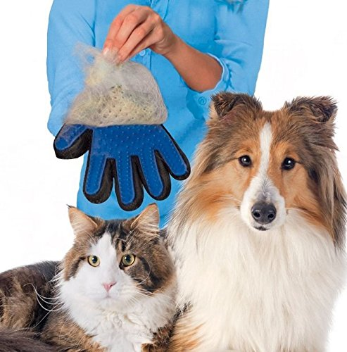 True Touch 2-In-1 Pet Glove Deshedding Glove Grooming Tool, Pet Hair Remover Mitt - For Cat & Dog- Gentle Deshedding Brush 1