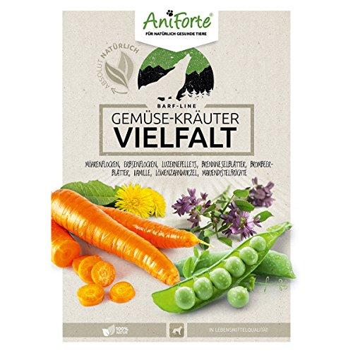 AniForte B.A.R.F. Line No1 Gemüse-Kräuter Vielfalt 1 kg glutenfrei- Naturprodukt für Hunde - 3