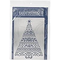 Stampendous metal DREAMWEAVER plantilla de 15,2x 8.75-inch, ornate Árbol de Navidad