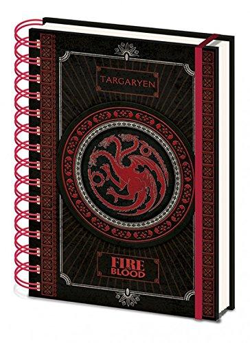 Juego De Tronos - Targaryen Bloc De Notas Libreta De Espiral (21 x 15c
