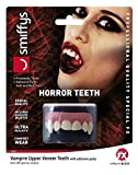 Adult Kids Horror Teeth and Fangs Zombie Vampire Dracula Werewolf Alien Ideal For Halloween Trick or Treat Party Fancy Dress Party Costume Accessory (Horror Teeth, Vampire, Upper Veneer Teeth 45183)