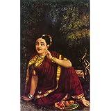 Raja Ravi Varma Painting Unframed Canvas Prints Canvas Art Print Canvas Wall Print One Keycahin Free With Order By SCPmarts (Radha Waiting For Krishna In Kunjavan 24x15 Inch)