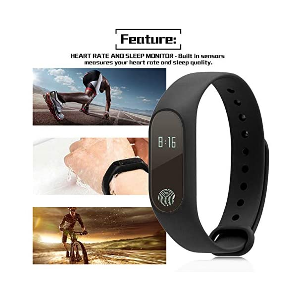 Profesional 0.42 Inch Touch Scrren Style Impermeable Fitness Activity Tracker Reloj Inteligente Pulsera (Negro… 5
