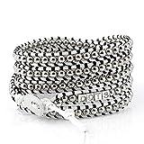 DOTS ORIGINALS Armband - Hochwertiges Wickelarmband aus liebevoller Handarbeit - Damenarmband mit unvergleichlichem und zeitlosem Design - Veganer Armschmuck für Damen (White, 87.00)