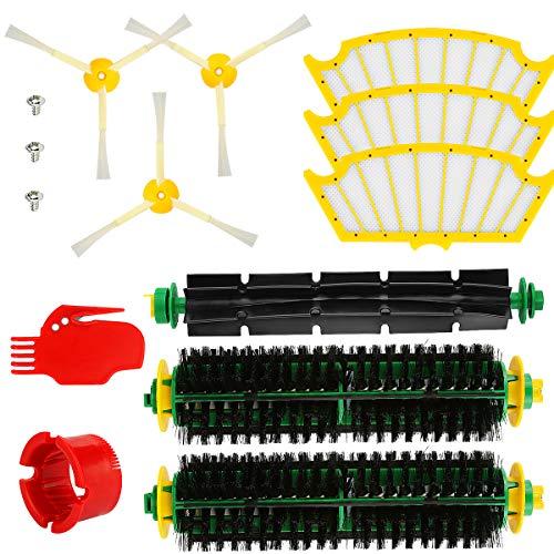 Energup Kit d'accessoires de rechange pour iRobot Roomba série 500 brosses latérales 500 505 510 520 521 530 535 540 545 550 560 561 562 565 570 580 581 585 587 589 595