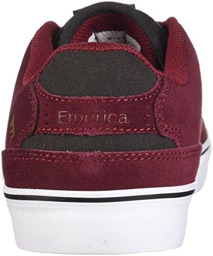 Emerica The Reynolds Low Vulc Herren Skateboardschuhe Red/grey